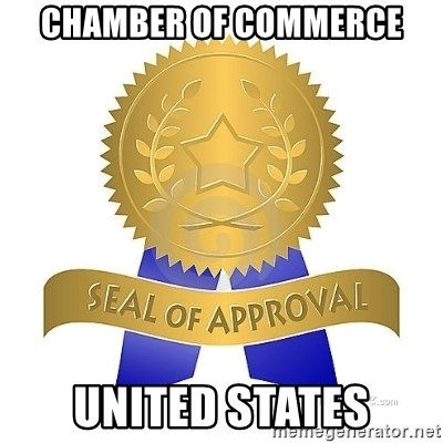 official seal of approval - cHAMBER OF COMMERCE uNITED STATES