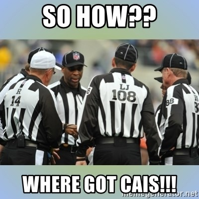 NFL Ref Meeting - SO HOW?? WHERE GOT CAIS!!!