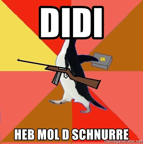 Socially Fed Up Penguin - DIDI HEB MOL D SCHNURRE