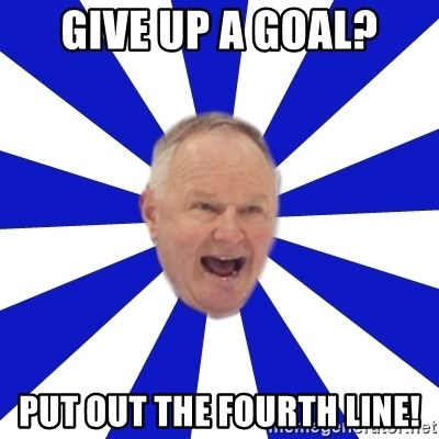 Crafty Randy - give up a goal? put out the fourth line!
