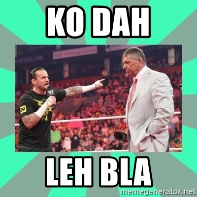CM Punk Apologize! - KO DAH  LEH BLA