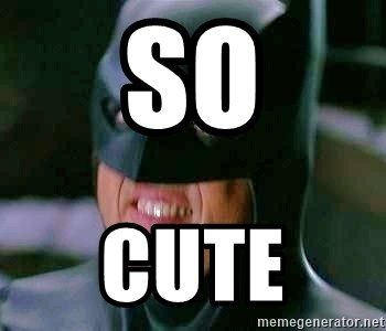 Goddamn Batman - so  cute