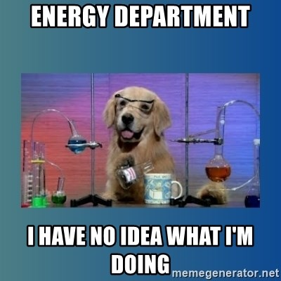 Chemistry Dog - Energy department I have no idea what I'm doing