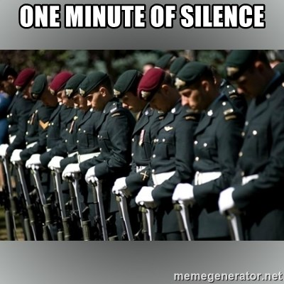 Moment Of Silence - one minute of silence