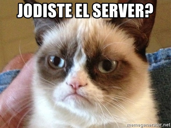 Angry Cat Meme - JoDISTE EL SERVER?