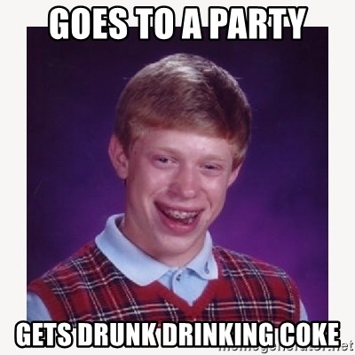 nerdy kid lolz - GOES TO A PARTY GETS DRUNK DRINKING COKE