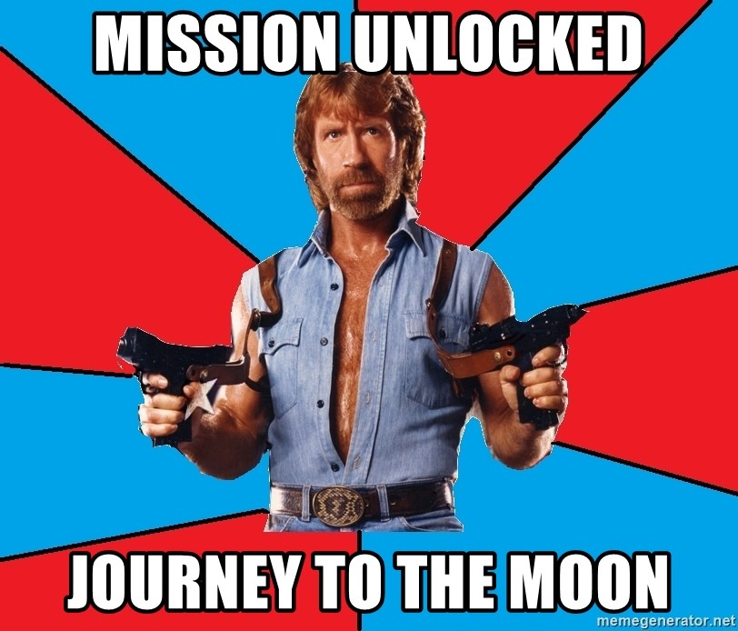 Chuck Norris  - mission unlocked journey to the moon