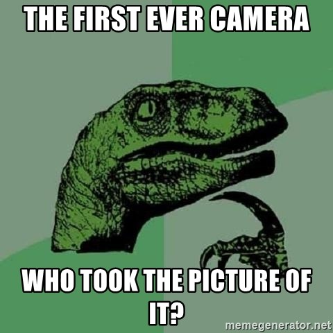 Philosoraptor - The first ever camera who took the picture of it?