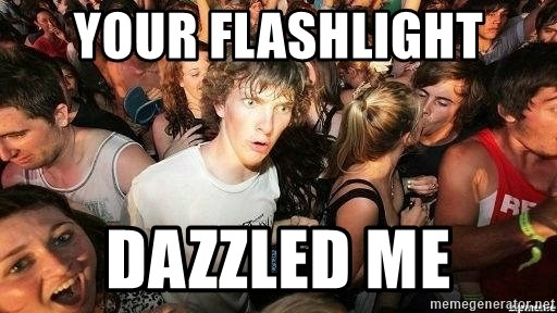 -Sudden Clarity Clarence - YOUR FLASHLIGHT DAZZLED ME