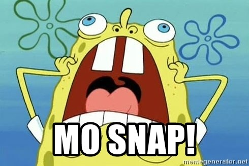 Enraged Spongebob -  mo snap!