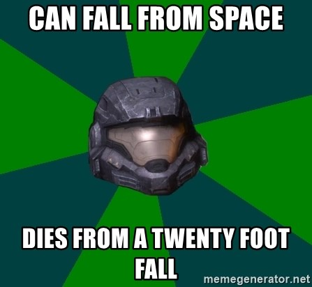 Halo Reach - Can Fall from spAce Dies from a twenty foot fall
