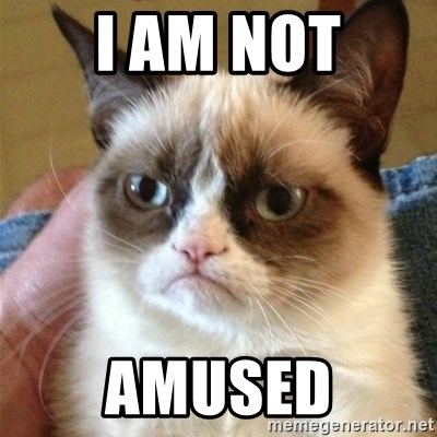 Grumpy Cat  - I Am Not Amused