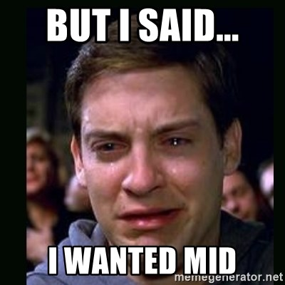 crying peter parker - but i said... i wanted mid