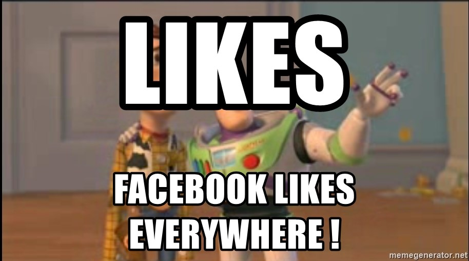 X, X Everywhere  - likes facebook likes everywhere !