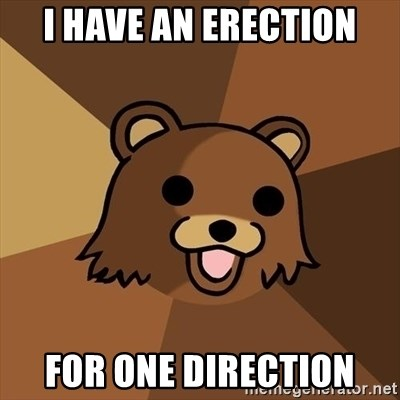 Pedobear - i have an erection For one direction