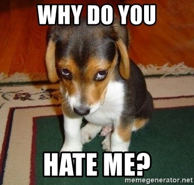 Sad Puppy - WHY DO YOU HATE ME?