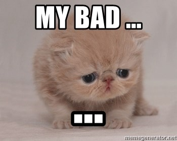 Super Sad Cat - my bad ... ...