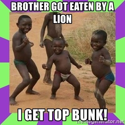 african kids dancing - Brother got eaten by a lion i get top bunk!