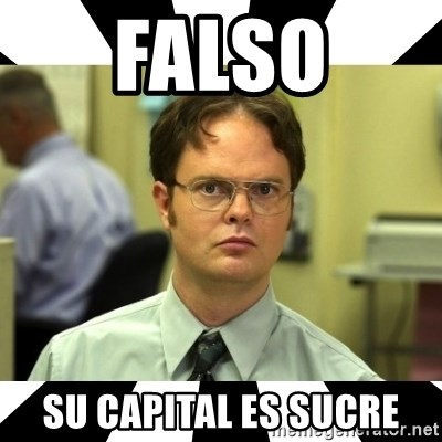 Dwight from the Office - FALSO su capital es sucre