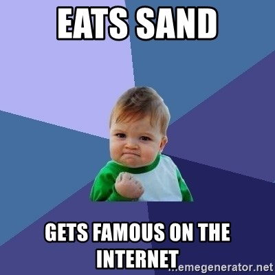 Success Kid - eats sand gets famous on the Internet