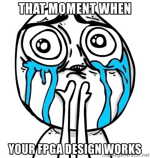 CuteGuy - That moment when your fpga design works