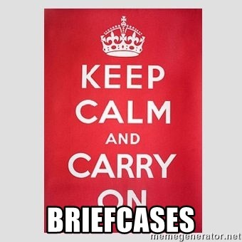 Keep Calm -  briefcases