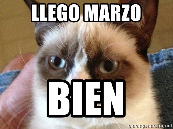 Angry Cat Meme - llego marzo bien