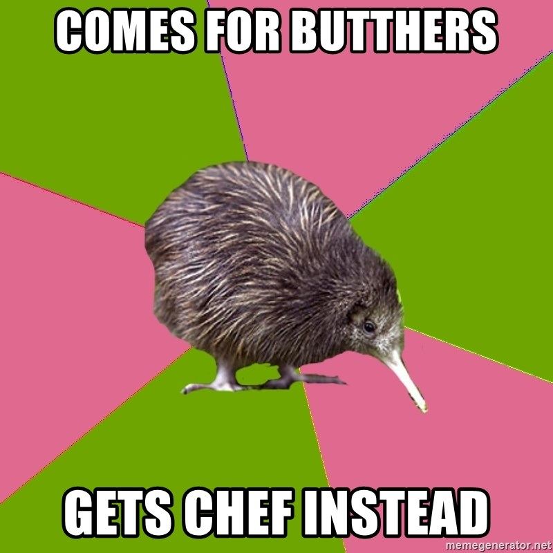 Choir Kiwi - Comes for butthers Gets chef instead