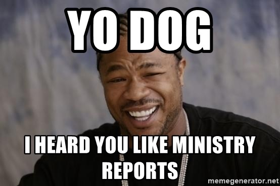 xzibit-yo-dawg - yo dog i heard you like ministry reports