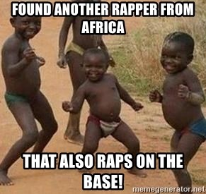 african children dancing - found another rapper from Africa that also raps on the base!