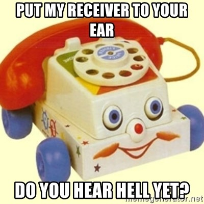 Sinister Phone - put my receiver to your ear do you hear hell yet?