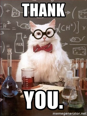 Chemistry Cat - THANK YOU.