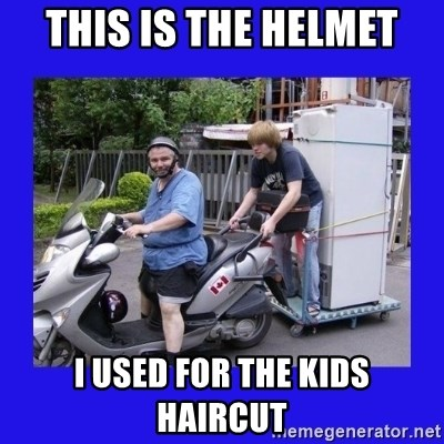 Motorfezzie - this is the helmet i used for the kids haircut