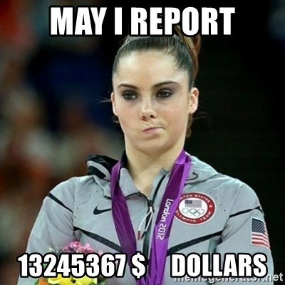 Not Impressed McKayla - May i report 13245367 $     Dollars