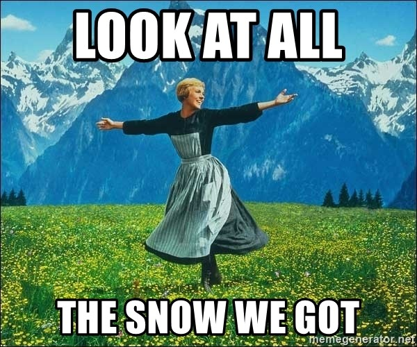 Look at all the things - LooK at all  The snow we got