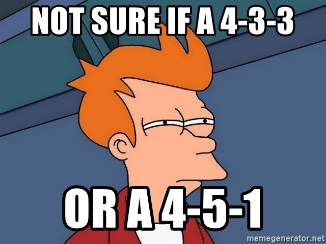 Futurama Fry - not sure if a 4-3-3 or a 4-5-1