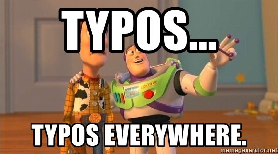 Consequences Toy Story - Typos... typos everywhere.