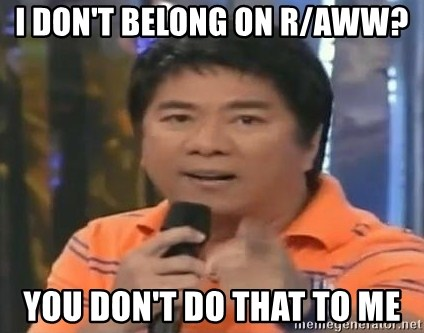 willie revillame you dont do that to me - I don't belong on r/aww? You don't do that to me