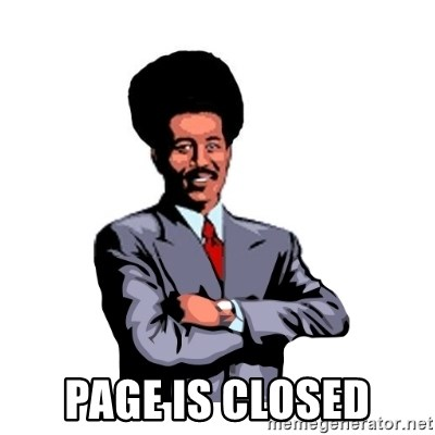 Pool's closed -  Page is closed