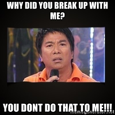 Willie Revillame me - WHY DID YOU BREAK UP WITH ME? YOU DONT DO THAT TO ME!!!