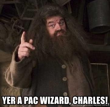 Hagrid -  YER A PAC WIZARD, cHARLES!