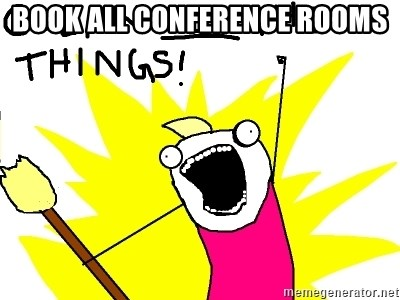 clean all the things - Book all conference rooms