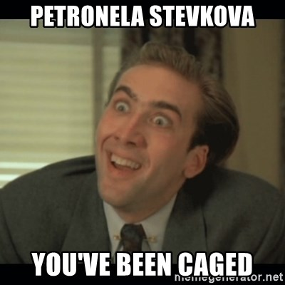 Nick Cage - Petronela stevkova you've been caged