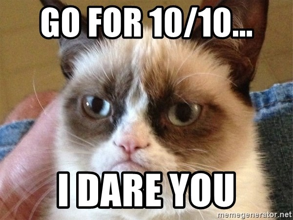 Angry Cat Meme - Go for 10/10... I dare you