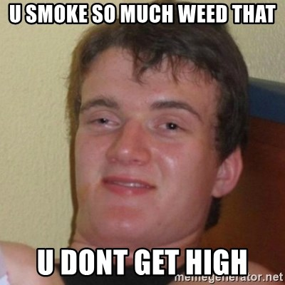 Really Stoned Guy - u smoke so much weed that u dont get high