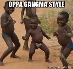 african children dancing - OPPA GANGMA STYLE