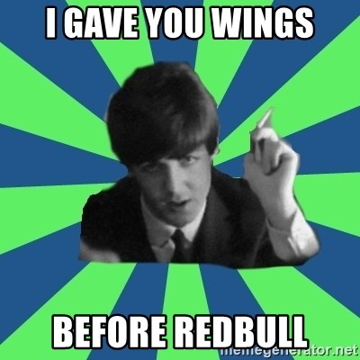 Sassy Paul - I gave you wings Before redbull
