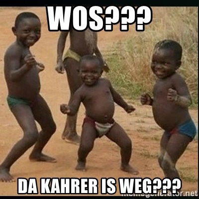Dancing black kid - wos??? da kahrer is weg???