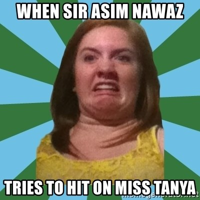 Disgusted Ginger - when sir asim nawaz  tries to hit on miss tanya