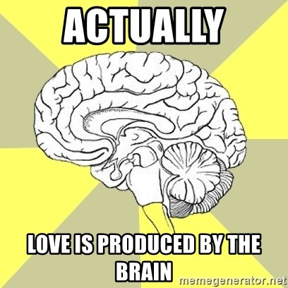 Traitor Brain - Actually Love is produced by the brain